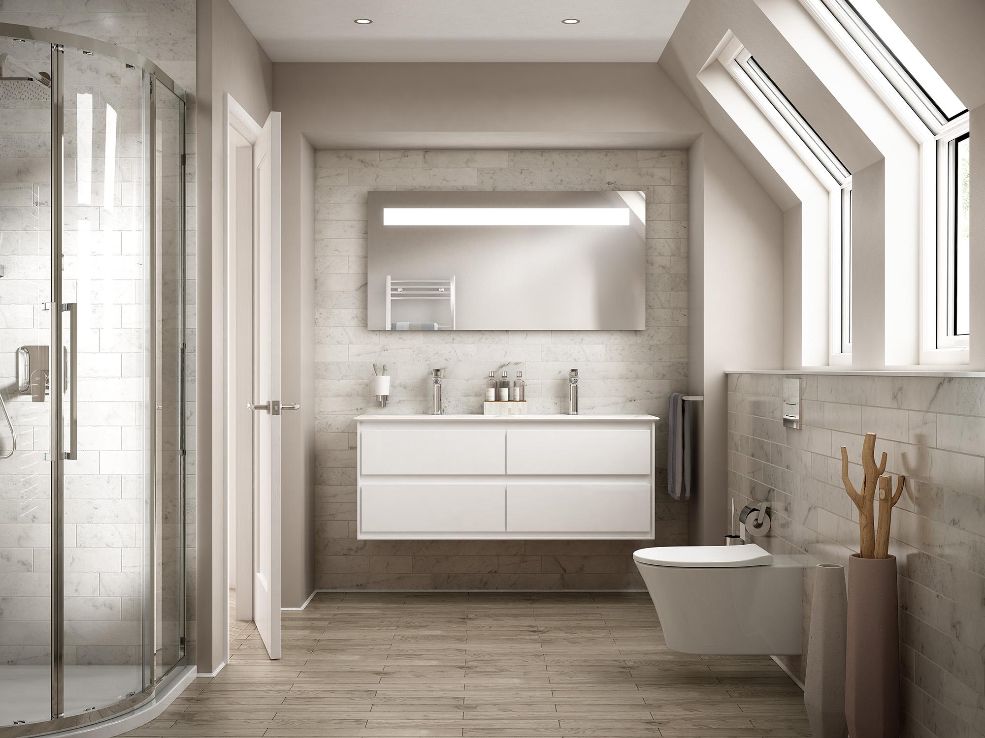 Festpreisbad Badideen Gemütliches Badezimmer in Beige 03