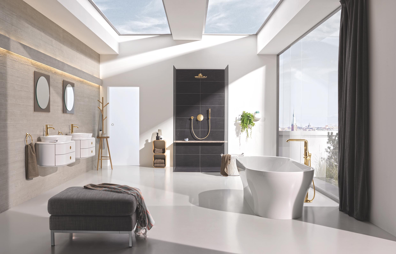 Festpreisbad Badideen Luxus Bad mit Gold Armaturen 23