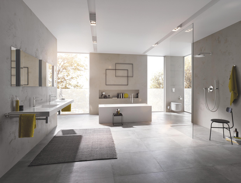 Festpreisbad Badideen Offenes Großraumbad mit schwebendem Waschtisch 36